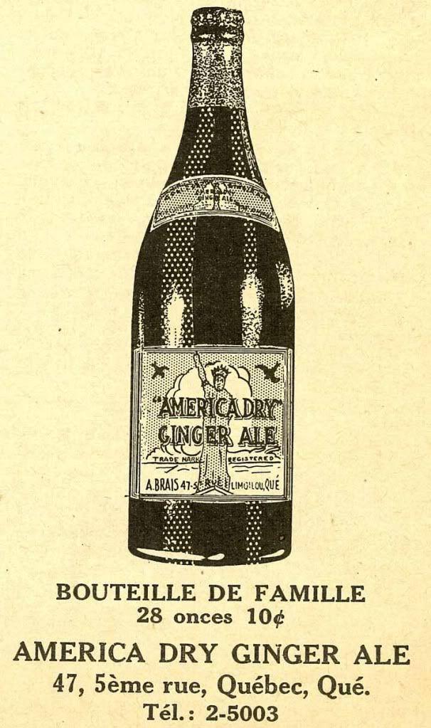 America Dry embouteillée à Limoilou, Québec en 1939 America-Dry-1939
