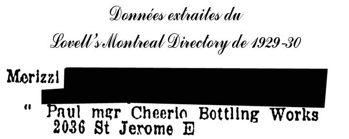 """Publicités de """"Ponjola"""" de la """"Cheerio Bottling Works"""" de Montréal - 1929 Cheerio2"""