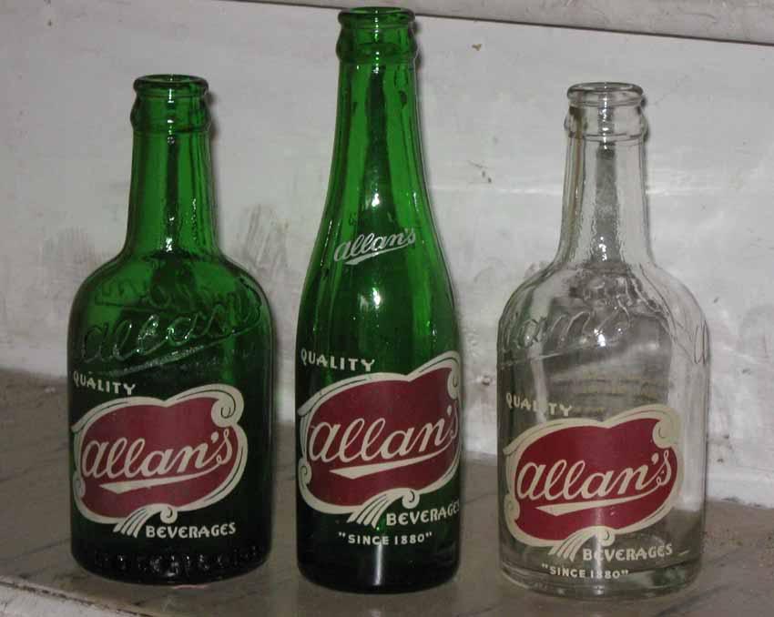 Bouteille ACL Allan's verte 7oz de Montréal.... Allan1