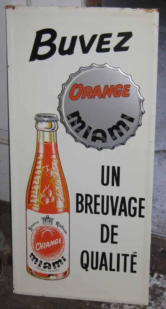 Annonce en tôle Orange Miami Miami