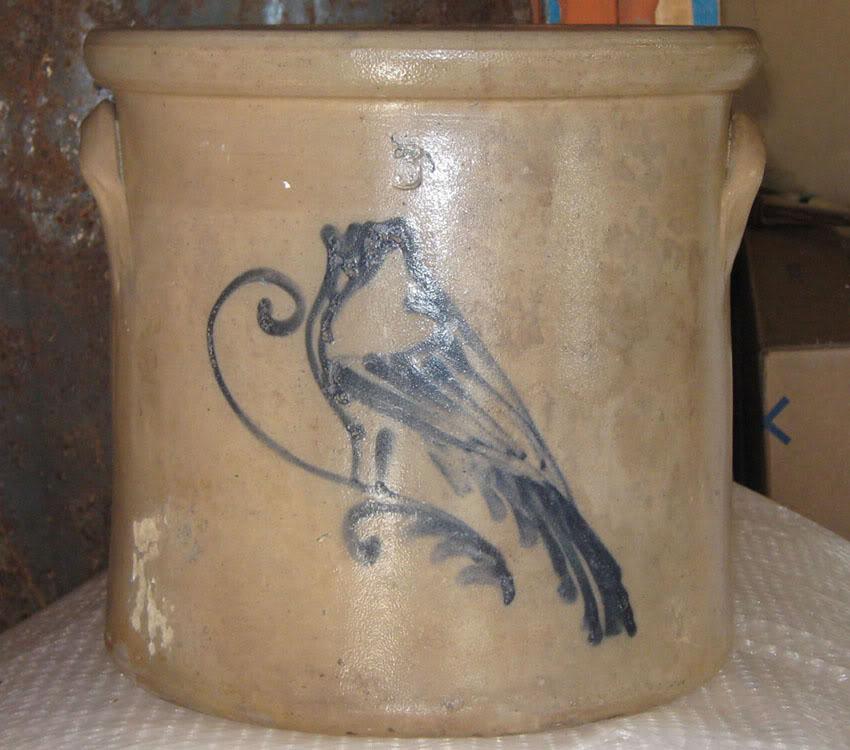 Jarre 3 gallons avec oiseau Oiseau