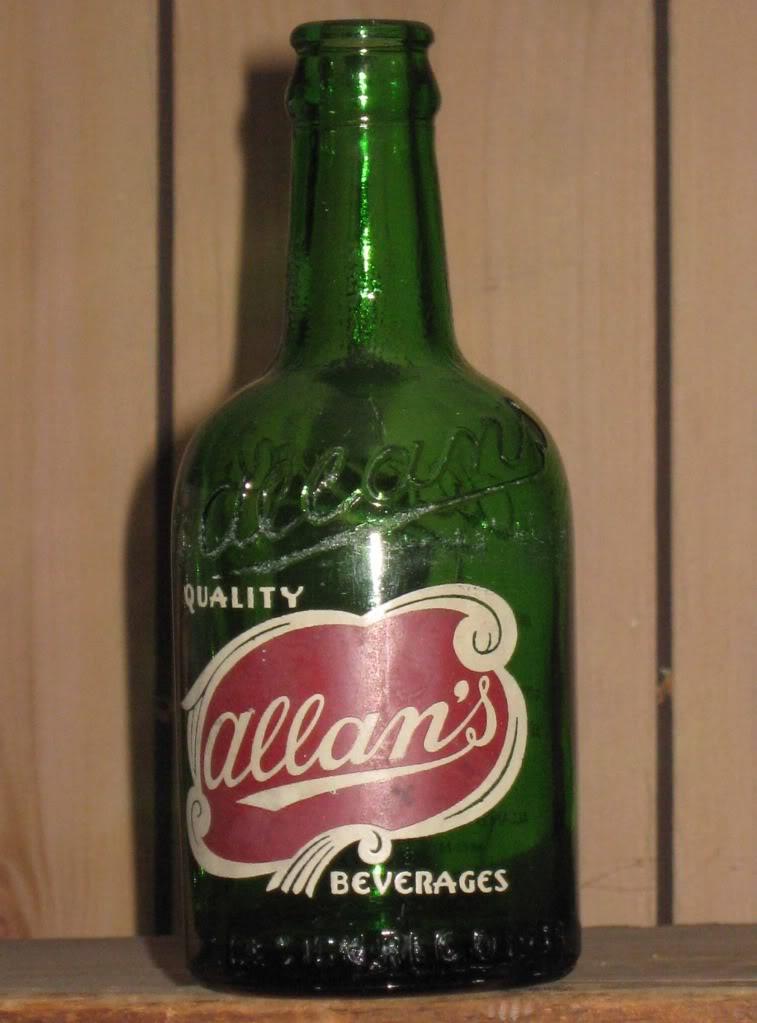 Bouteilles Allan's Stubby-allan-verte