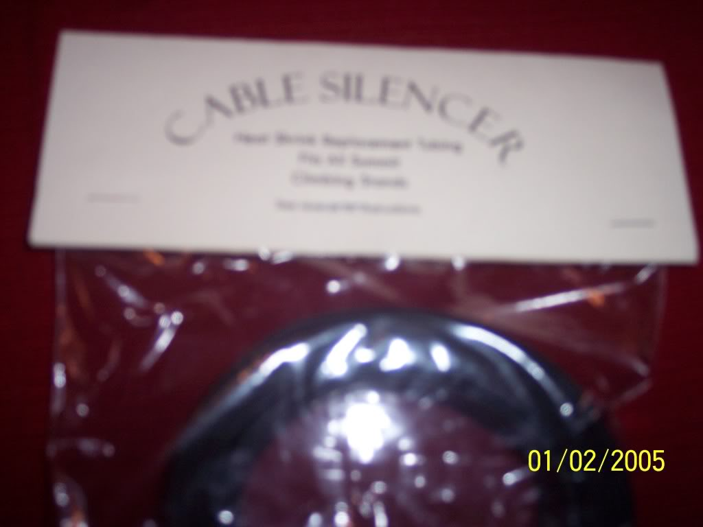 TREESTAND CABLE SILENCER (Heat Shrink Replacement Review)-With Pics 001-2