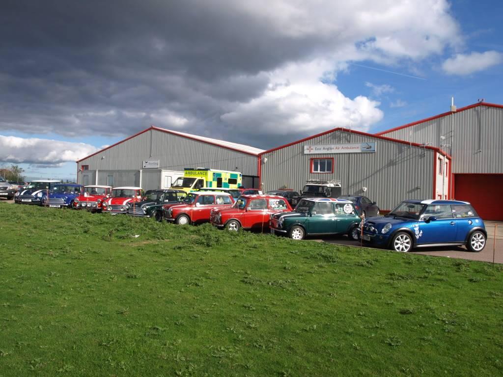 East Anglian Air Ambulance,Cheque Presentation. NorfolkMiniOwnersClubdonationtoEAAA013