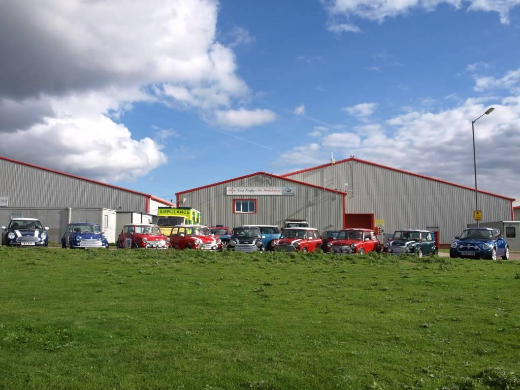 East Anglian Air Ambulance,Cheque Presentation. NorfolkMiniOwnersClubdonationtoEAAA016