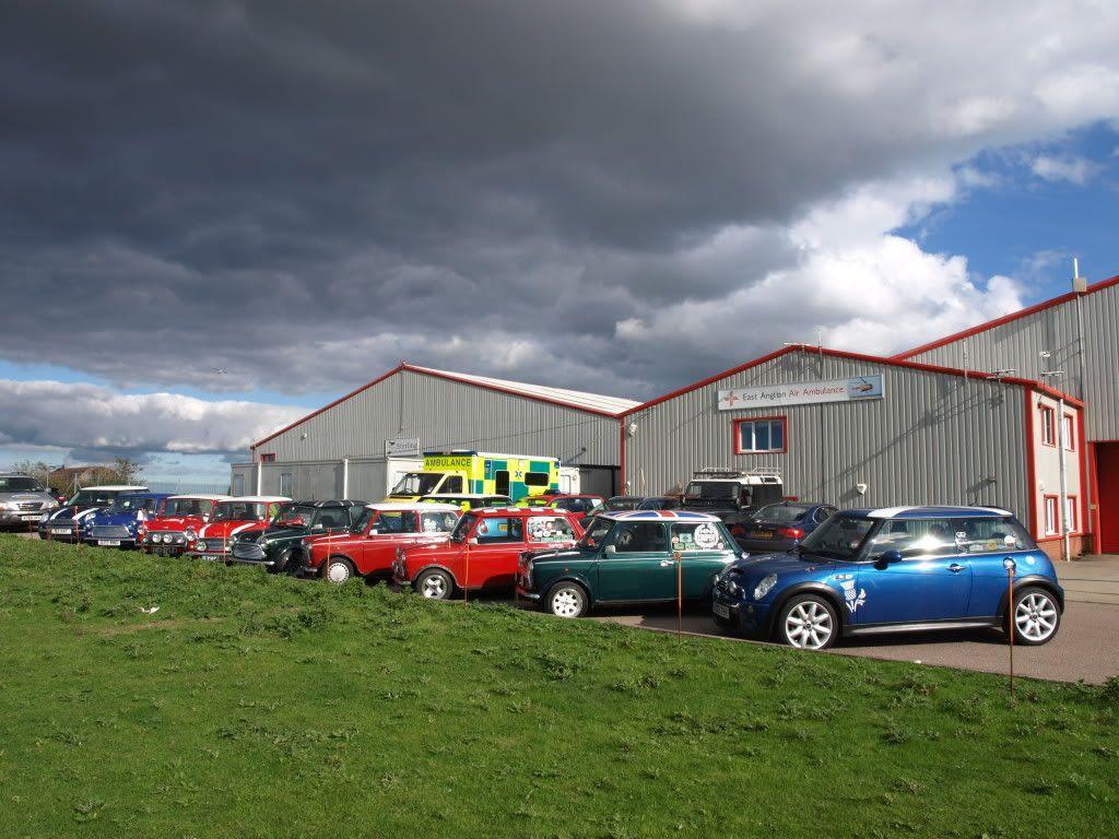 East Anglian Air Ambulance,Cheque Presentation. NorfolkMiniOwnersClubdonationtoEAAA018