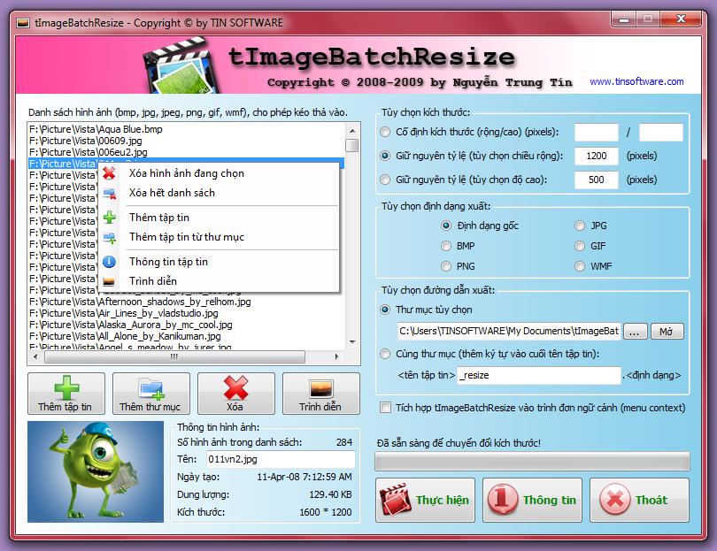Resize kích thước hình ảnh hàng loạt chỉ với một cú click chuột Tibr_win7