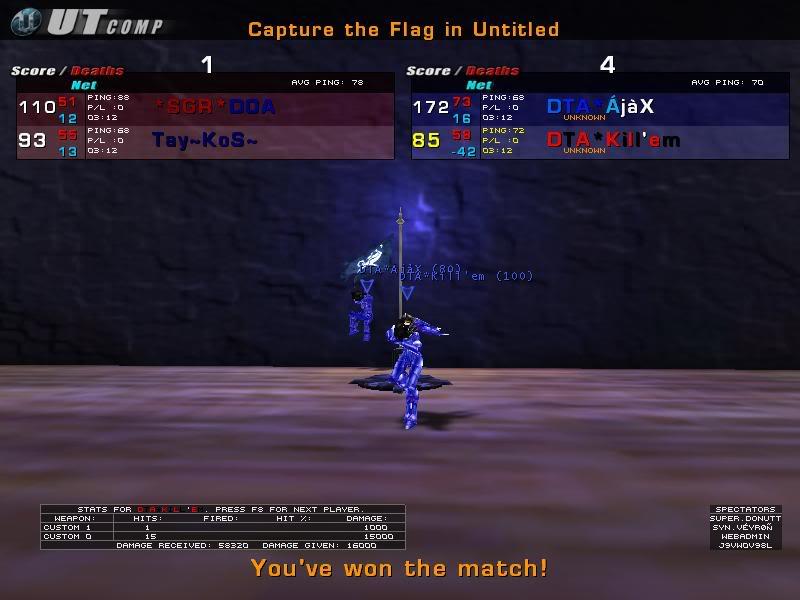 DTA* vs. *SGR* Clan Match PIC11