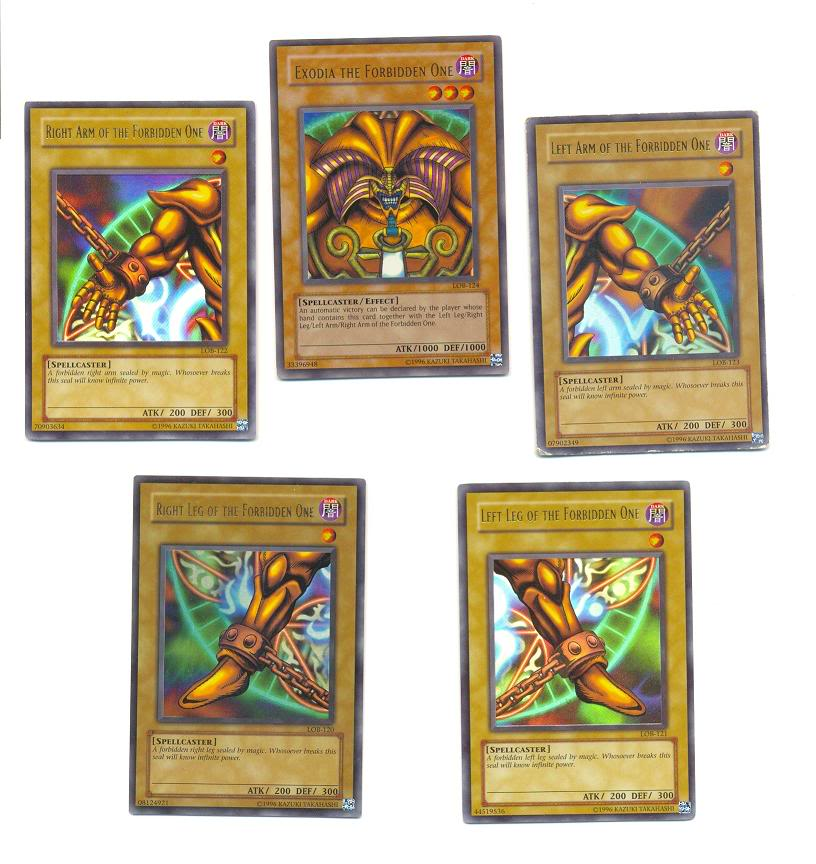 The most powerful looking card in play Exodia