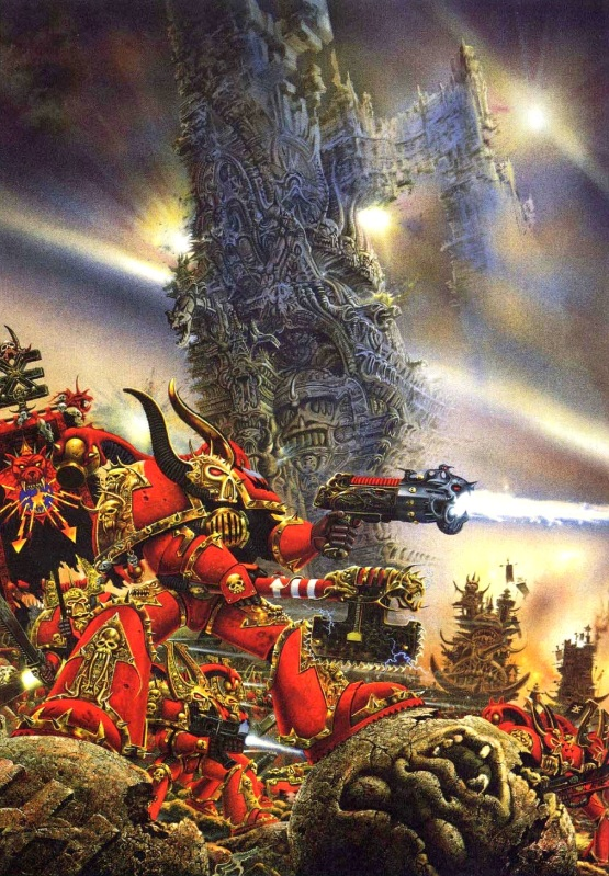 [W40K] Collection d'images : Space Marines du Chaos BerserkerswithSiegeEngineofKhorne