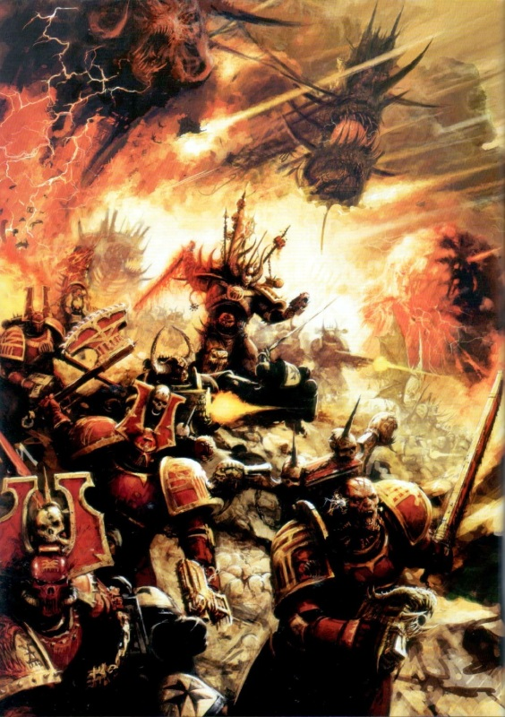 [W40K] Collection d'images : Space Marines du Chaos KhorneBerserkerCharge