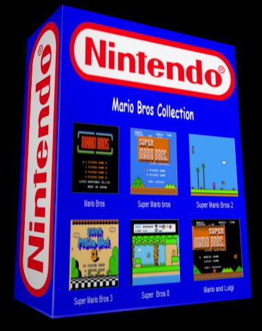 Colección de juegos de Mario NES Box-CajaTodoenUnoMarioCollection