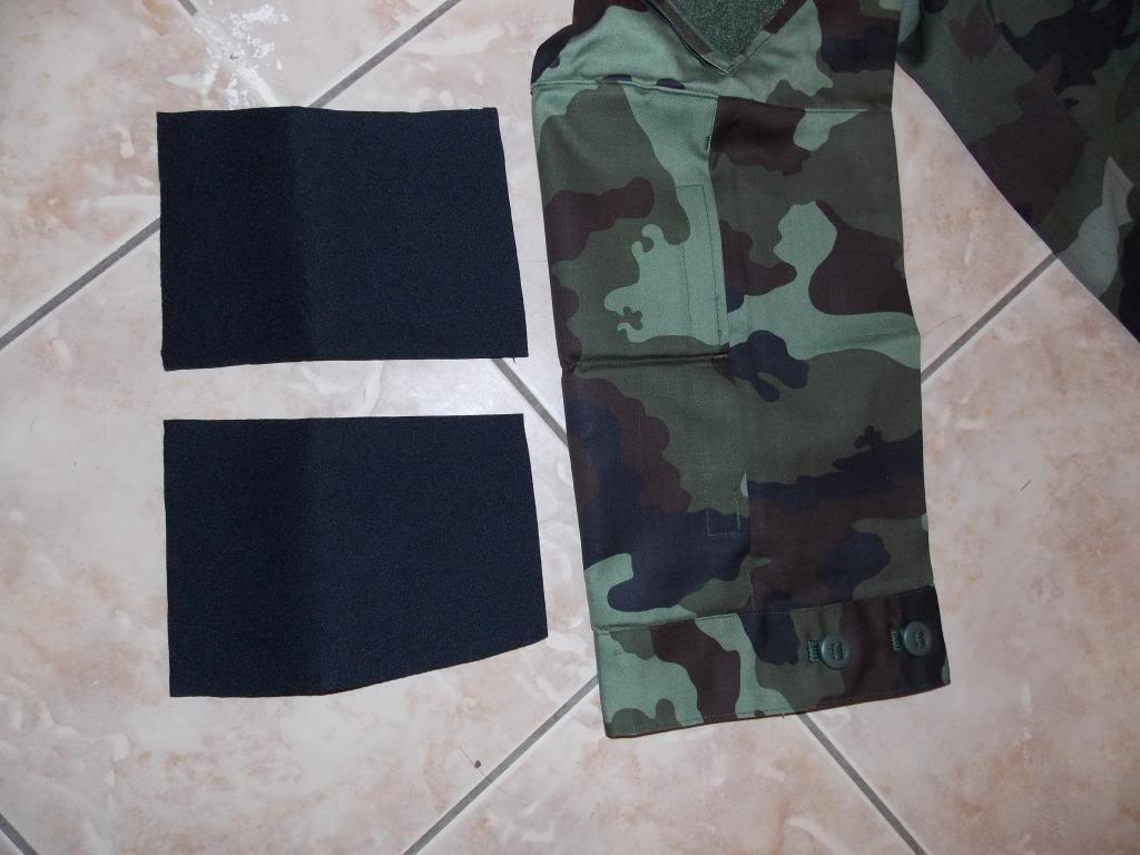 2010 Pattern Irish Army Field dress. Bumppads