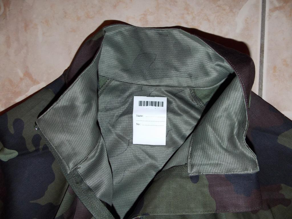 2010 Pattern Irish Army Field dress. Collarandnamelabel-