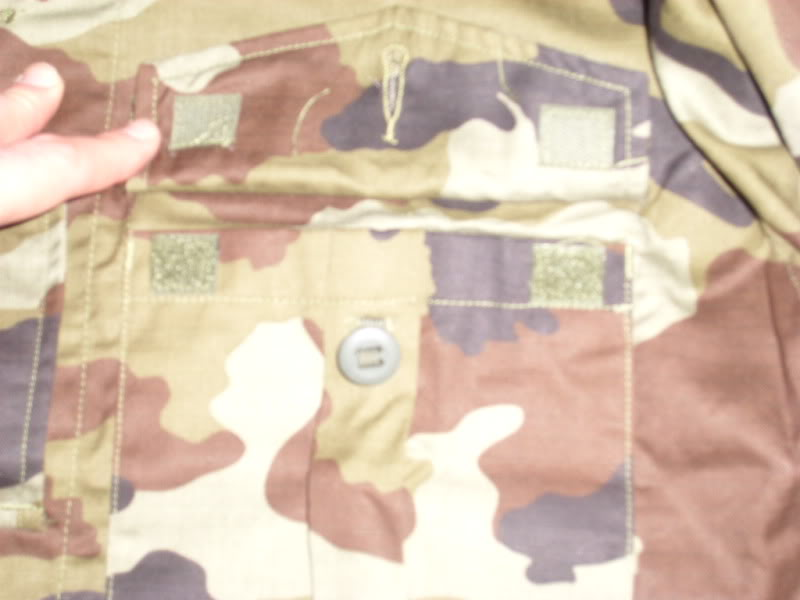 2010 Pattern Irish Army Field dress. Frontshirtpocketdesign