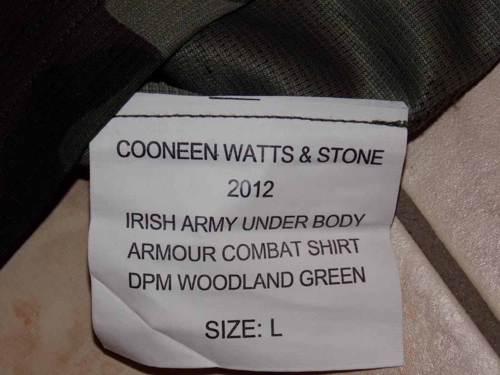 2010 Pattern Irish Army Field dress. Label