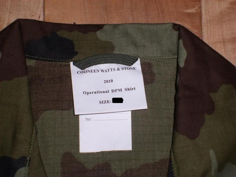 2010 Pattern Irish Army Field dress. Shirtlabels