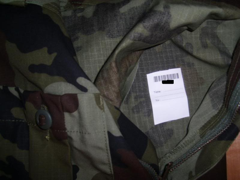 2010 Pattern Irish Army Field dress. Nametag