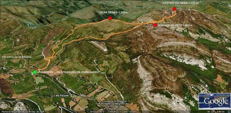 Castro Valnera 1.718m. Peña Negra 1.509m. y Cubada Grande 1.605m. MAPA1