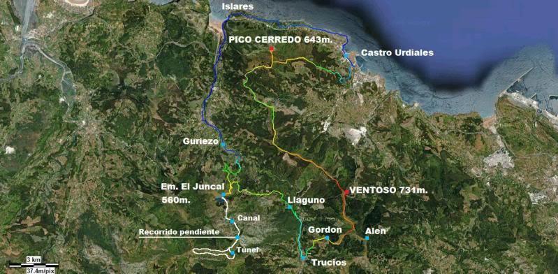 Pico Cerredo 634m. Ventoso 731m. desde Castro Urdiales MAPARUTONDOMINGO22-1