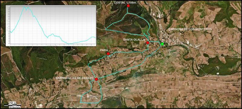 Ascensión al Costal 1.108m.  MAPA