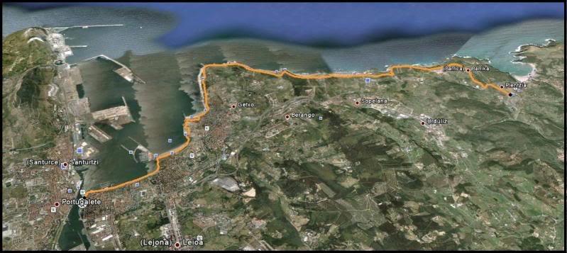 Getxo-Plentzia (Acantilados de la Galea) Mapa
