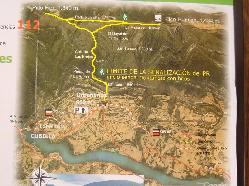 Pico Humión 1.434m. y Pico Flor  1.340m. MAPASUMION002