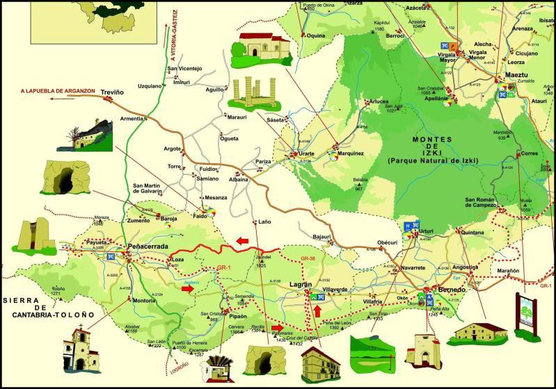 Monte Jauden 1.038m. desde Peñacerrada Mapa-copia