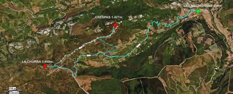Ascensión a la Churra 1.498m. y Crespas 1.427m. MAPALASMACHORRAS
