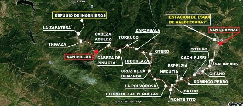 San Millan 2.133m y San Lorenzo 2.271m. Por fin unidos! MAPA