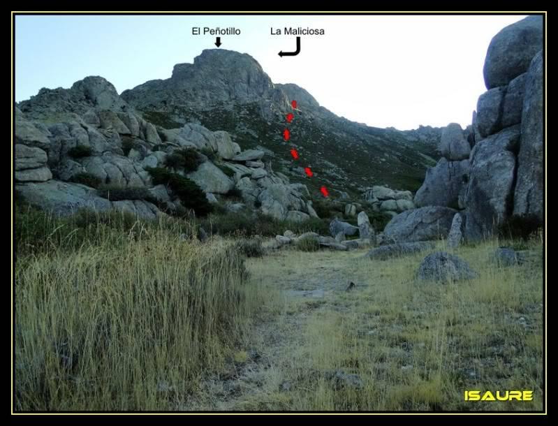 La Maliciosa 2.227m. y Bola del Mundo 2.258m. desde La Barranca DSC03243