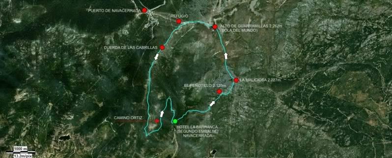La Maliciosa 2.227m. y Bola del Mundo 2.258m. desde La Barranca MAPALAMALICIOSA