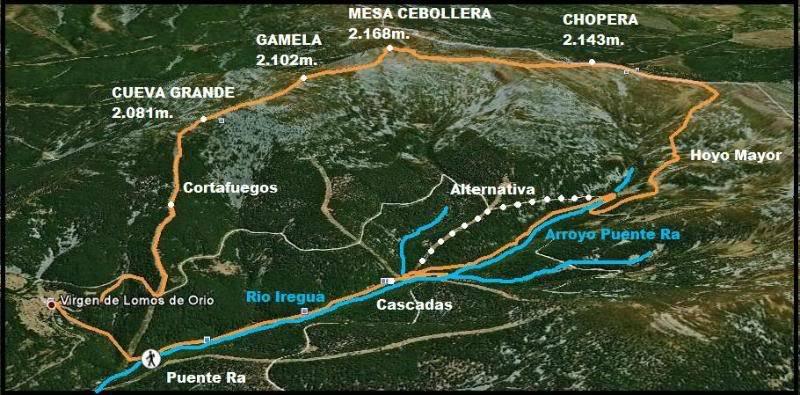 La Mesa de Cebollera 2.168m. desde Puente Ra LAMESA2