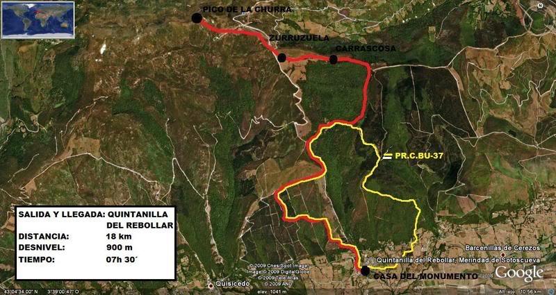 Pico de La Churra 1.498m. desde Quintanilla del Rebollar LACHURRA000