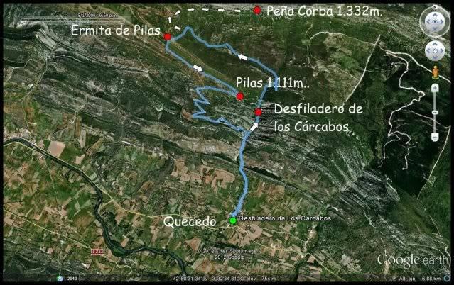 Desfiladero de los Cárcabos (Burgos) MAPALOSCARCABOS