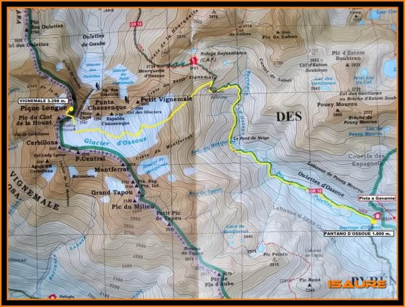Vignemale 3.298m. desde la presa d´Ossoue (Gavarnie) Mapa003