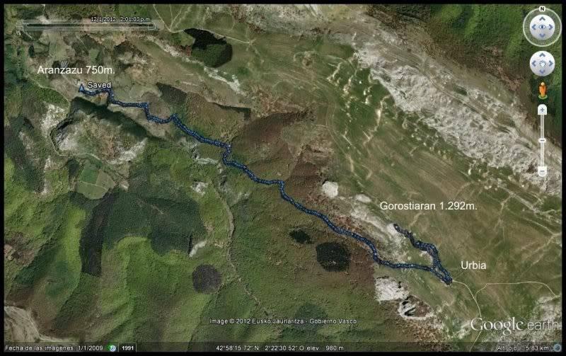 Gorostiaran 1.292m. (Sierra de Aizkorri) MAPA