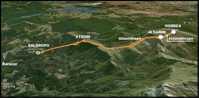Ascensión al Gorbea 1.481m. y Aldamin 1.375m. desde Saldropo GORBEACONKEDUCC002