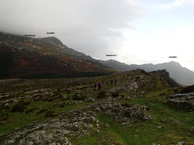 Ascensión al Gorbea 1.481m. y Aldamin 1.375m. desde Saldropo GORBEACONKEDUCC036
