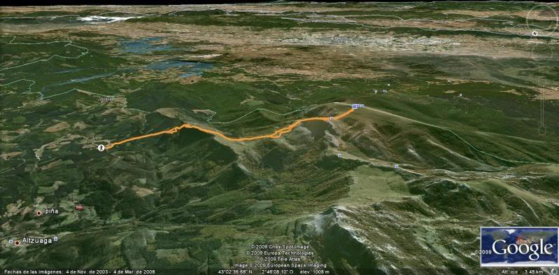 Ascensión al Gorbea 1.481m. y Aldamin 1.375m. desde Saldropo Mapa