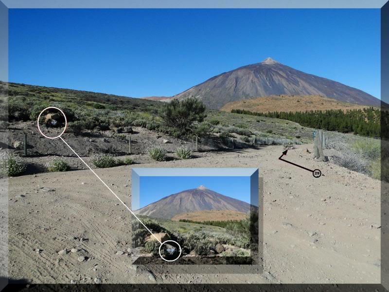 Teide 3.718m. desde la playa del Socorro 30