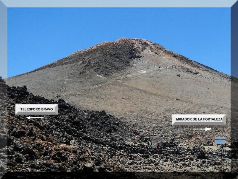 Teide 3.718m. desde la playa del Socorro 70