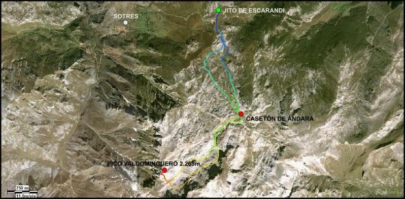 Pico Valdominguero 2.265m. desde Jito de Escarandi MAPAVALDOMINGUERO