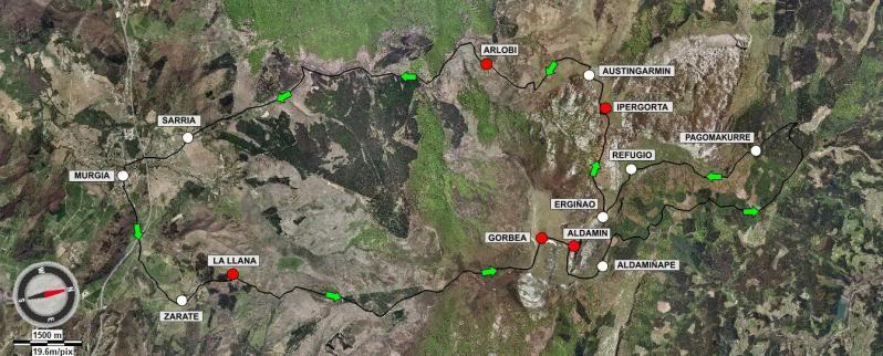 Ascensión y vuelta al Gorbea 1.481m. MAPAGORBEA