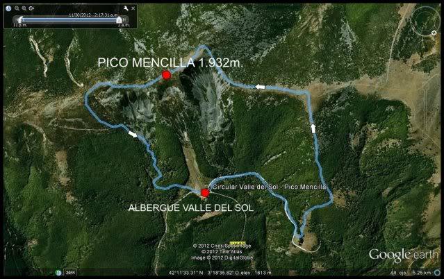 Haciendo el payaso subiendo al Pico Mencilla 1.932m. Mapa-2