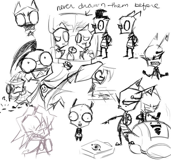 Imagenes IZ Invader_Zim_Doodles_by_4Anime