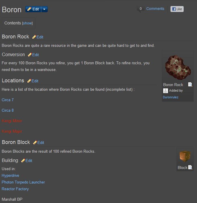 Ores of Eternity Boron