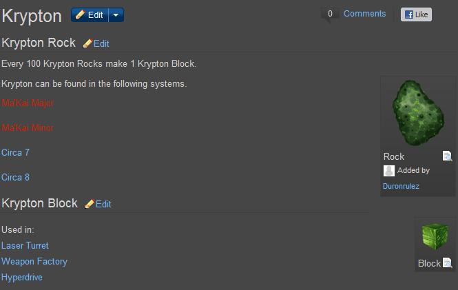 Ores of Eternity Krypton