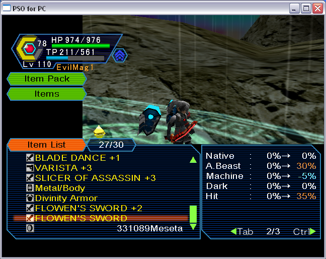 PSO PC/ V1&V2 Screenshot Gallery! - Page 10 FlowenHit