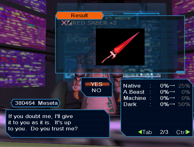PSO PC/ V1&V2 Screenshot Gallery! - Page 14 Redsaber
